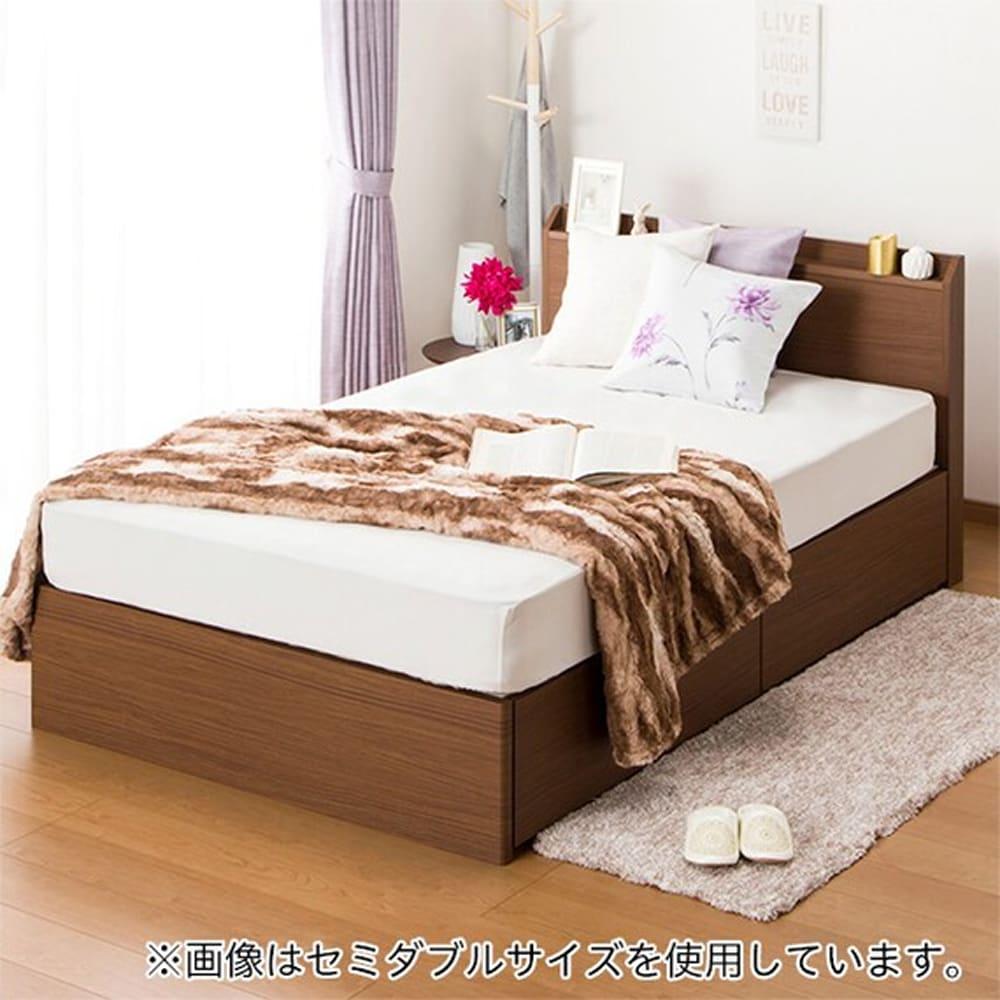 【ニトリ】 シングルベッドフレーム ヴァイン 深型引出し MBR ミドルブラウン:ベッド下収納でデッドスペースを活用