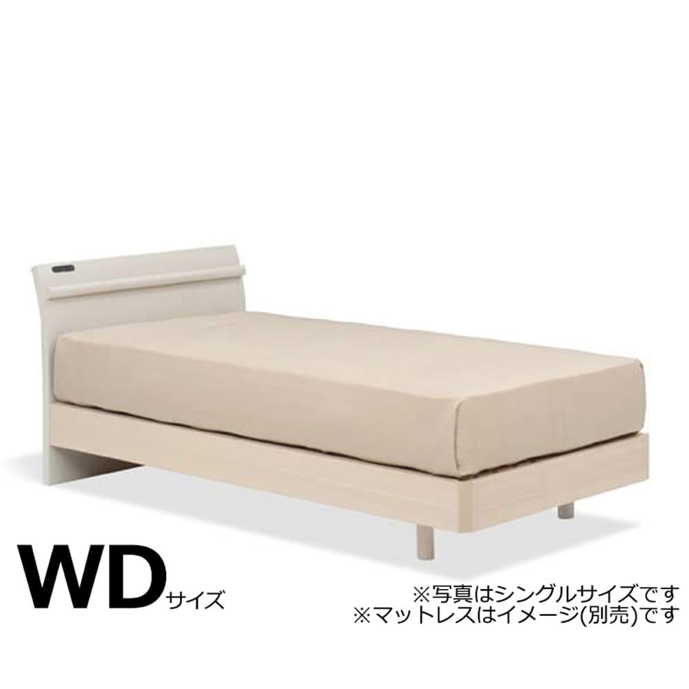 ワイドダブルフレーム スピーク3 スリムキャビ レッグ H1104 WW(ホワイト ウォッシュ色) ※マットレス別売※