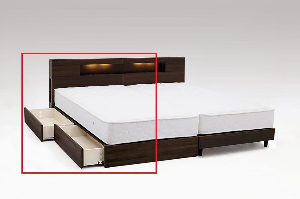 シングルフレーム アリーナDR(L)D WNT:やさしい木目柄がきれいなベッドフレーム