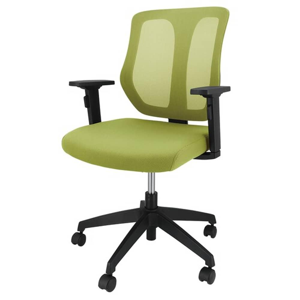 【ニトリ】 企業向け ワークチェア K6 肘付き GR グリーン:スタイリッシュなデザインのチェア
