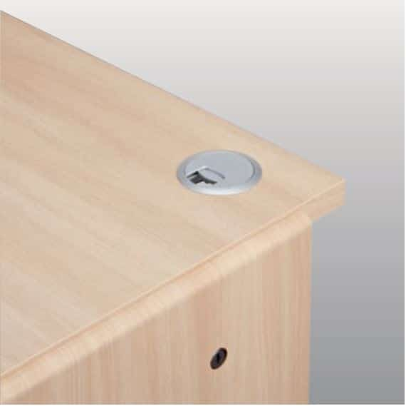ニューワークスタジオ スライド書棚 DD−B612 DA:配線コードもスッキリ収納(奥行70�pタイプのみ完備)