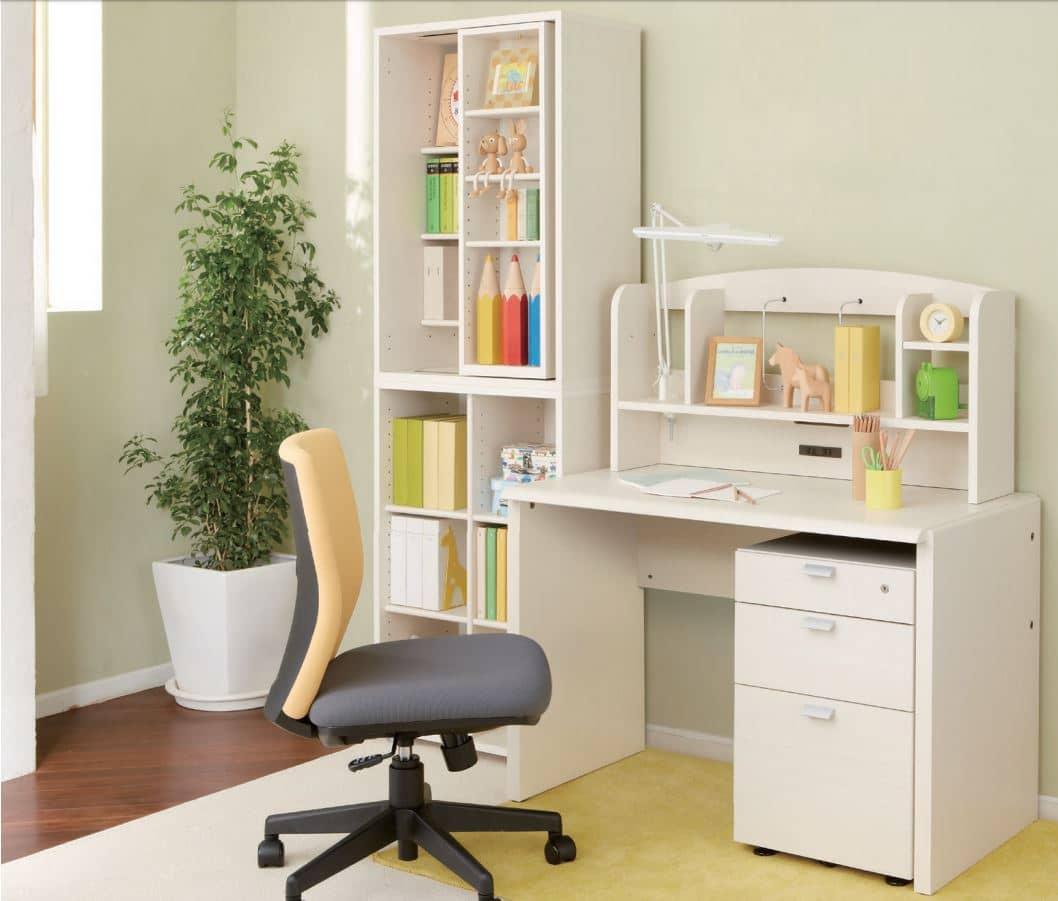 ニューワークスタジオ スライド書棚 DD−B612 DA:組み合わせ次第では学習机にも