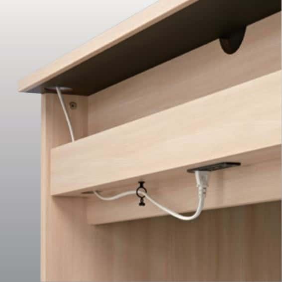 ニューワークスタジオ オープン書棚 DD−B802−NL:大型配線ボックスも標準完備(奥行70�pタイプのみ)