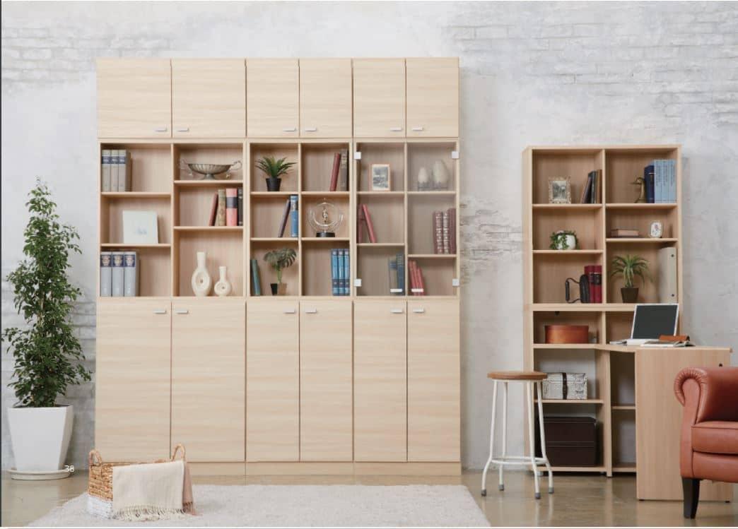 ニューワークスタジオ コーナーデスク DD−128−DA:書棚としても