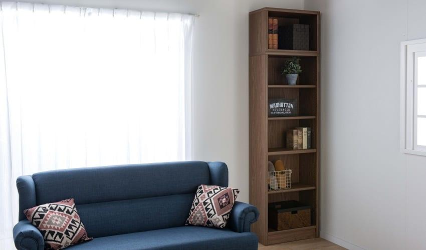 小島工芸 書棚 アコード120H(ホワイト):インテリアに合わせたお好みのカラーをチョイス