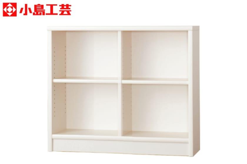 小島工芸 書棚 アコード105L(ホワイト):豊富なサイズバリエーション