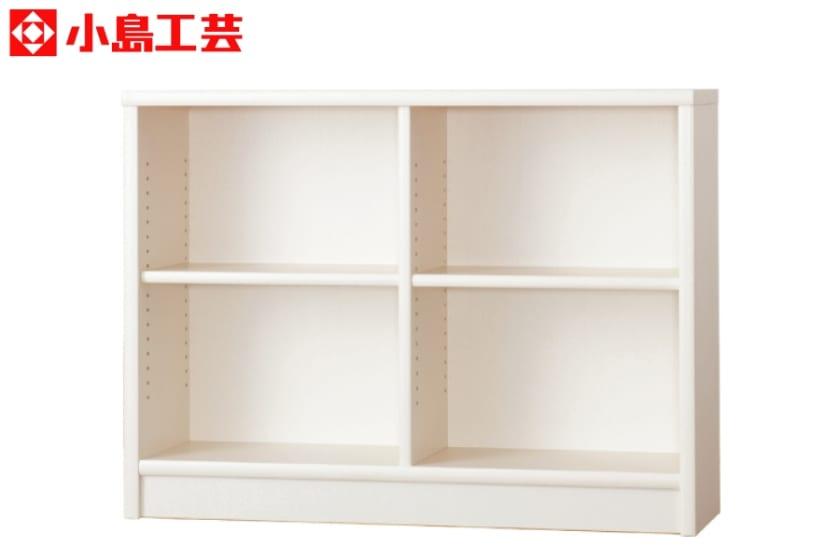 小島工芸 書棚 アコード120L(ホワイト):豊富なサイズバリエーション