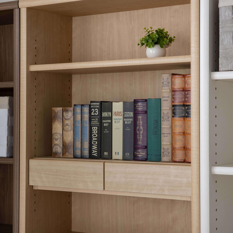 小島工芸 書棚 アコード50H(ウォールモカ):図鑑が好きな方には特に嬉しい驚異の耐荷重
