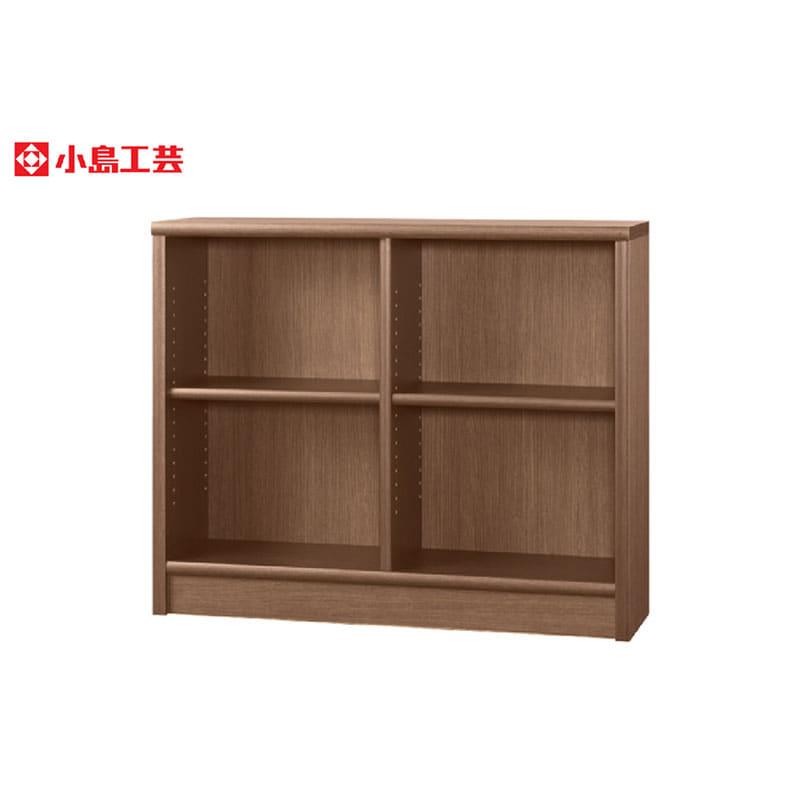 小島工芸 書棚 アコード105L(ウォールモカ):豊富なサイズバリエーション