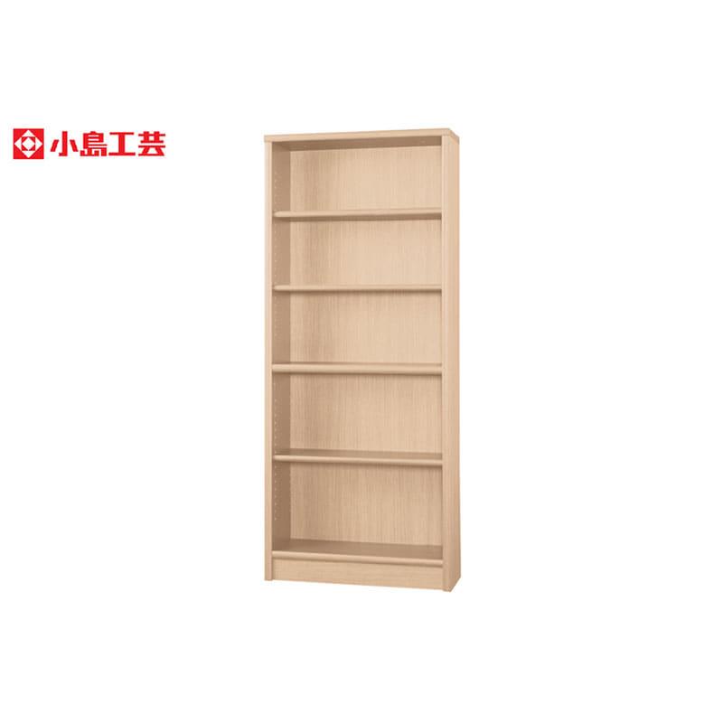 小島工芸 書棚 アコード75H(チェリーナチュラル):豊富なサイズバリエーション