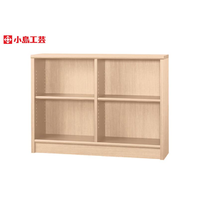 小島工芸 書棚 アコード120L(チェリーナチュラル):豊富なサイズバリエーション
