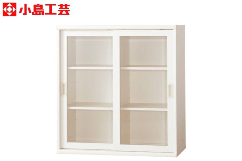 小島工芸 書棚 オファー90引戸(ホワイト)