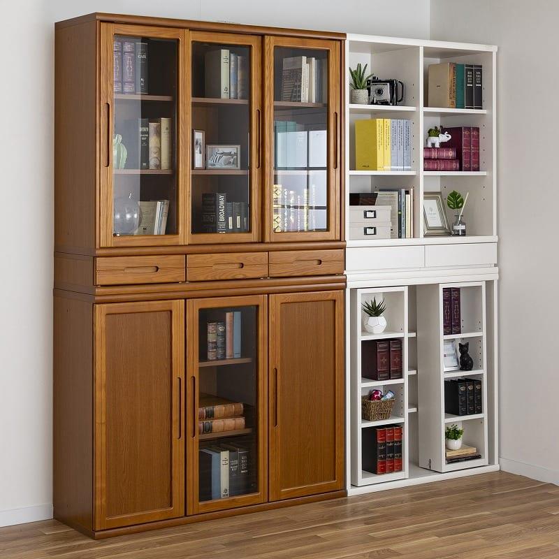 小島工芸 書棚 オファー90引戸(ホワイト):2種類の幅から選べる