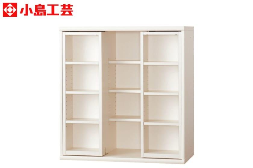 小島工芸 書棚 オファー90スライドオープン(ホワイト)