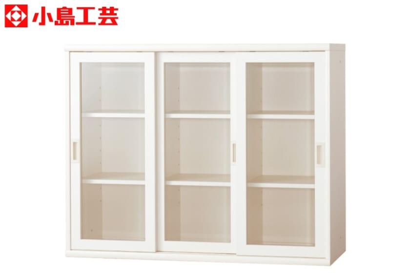 小島工芸 書棚 オファー120引戸(ホワイト)