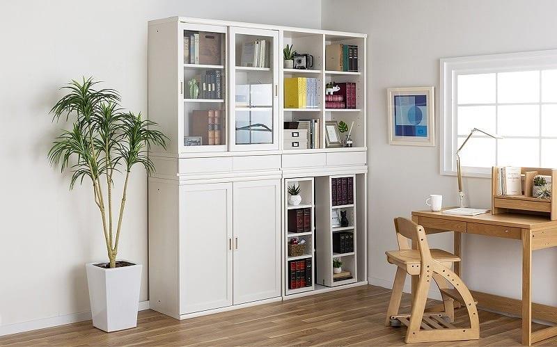 小島工芸 書棚 オファー120引戸(ホワイト):F☆☆☆☆相当の資材を使用した書棚