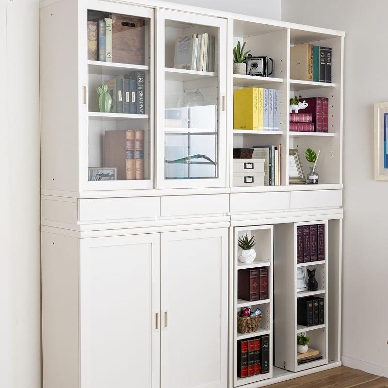 小島工芸 書棚 オファー120引戸(ホワイト):豊富なタイプをラインナップ!