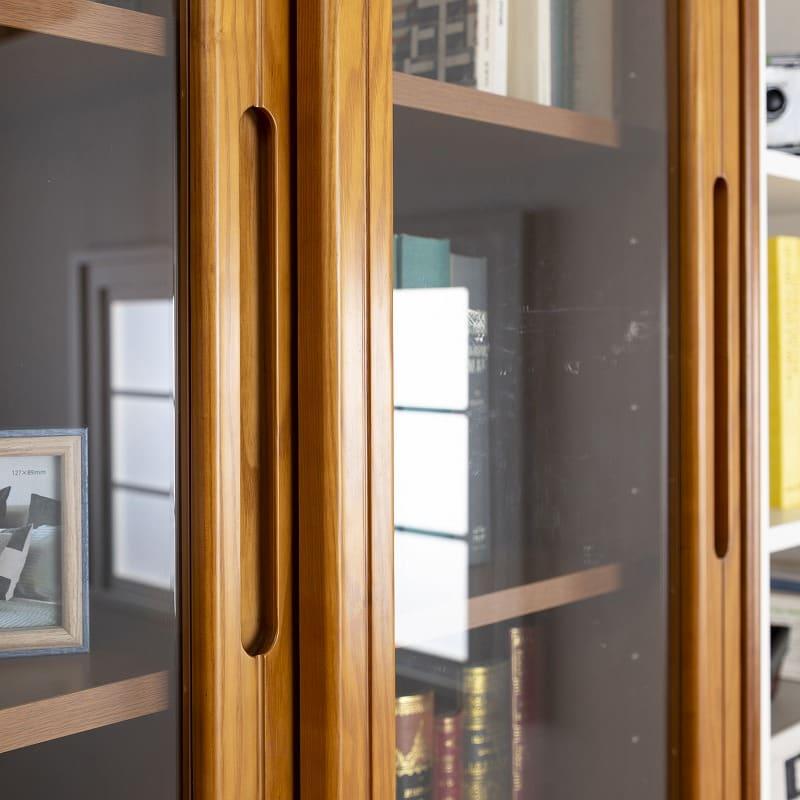 小島工芸 書棚 オファー90スライドオープン(ライト)