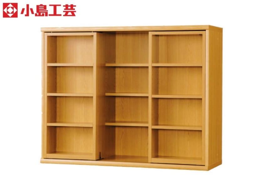 小島工芸 書棚 オファー120スライドオープン(ライト)