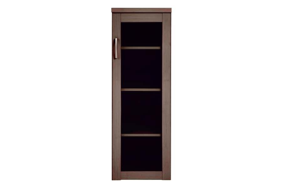 書棚 プラス40M DBR:魅せる・しまう・大容量を兼ね備えた実用的なスライド書棚