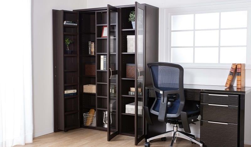 書棚 プラス40M WH木目:21センチ刻みの調節で収納スペースフル活用