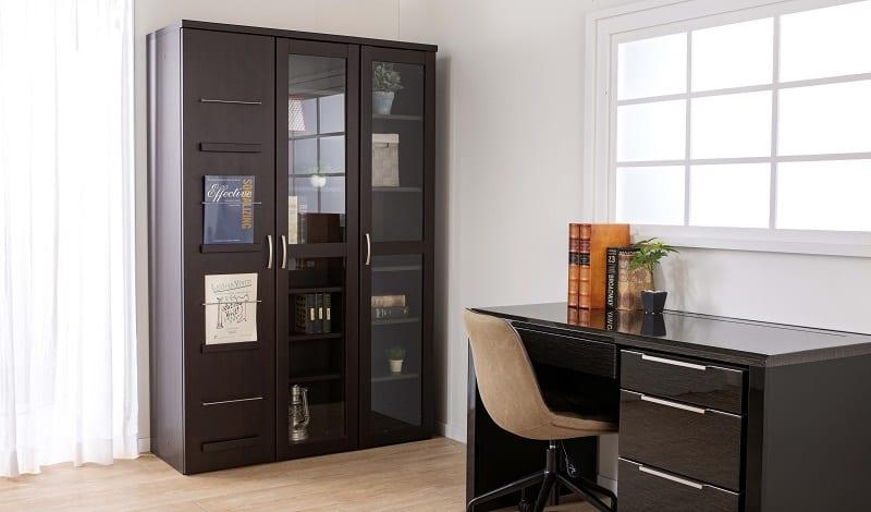スライド書棚 プラス80H WH木目:魅せる・しまう・大容量を兼ね備えた実用的なスライド書棚