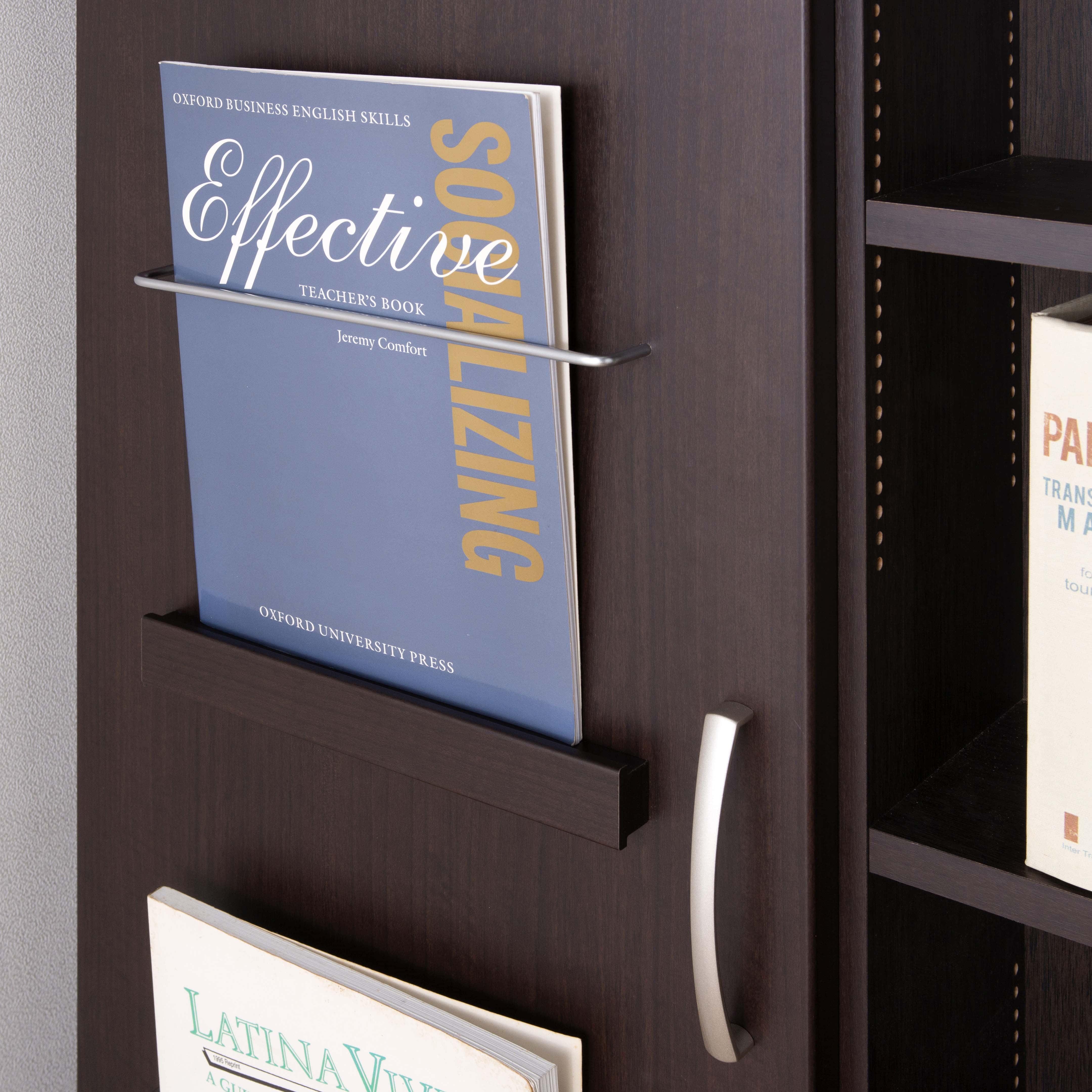 スライド書棚 プラス80H WH木目:表紙もインテリアの一部
