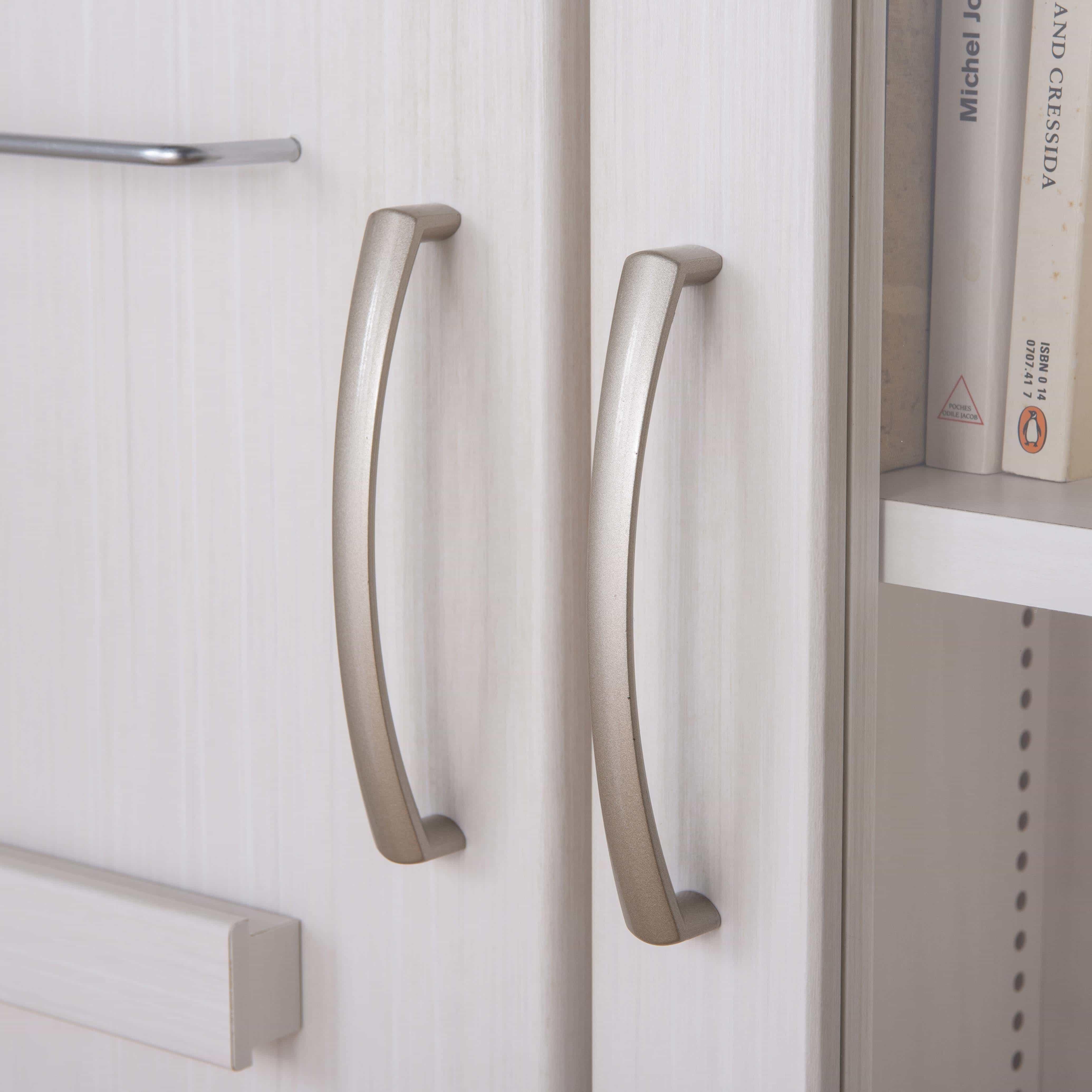 スライド書棚 プラス80H WH木目:開閉もラクラク