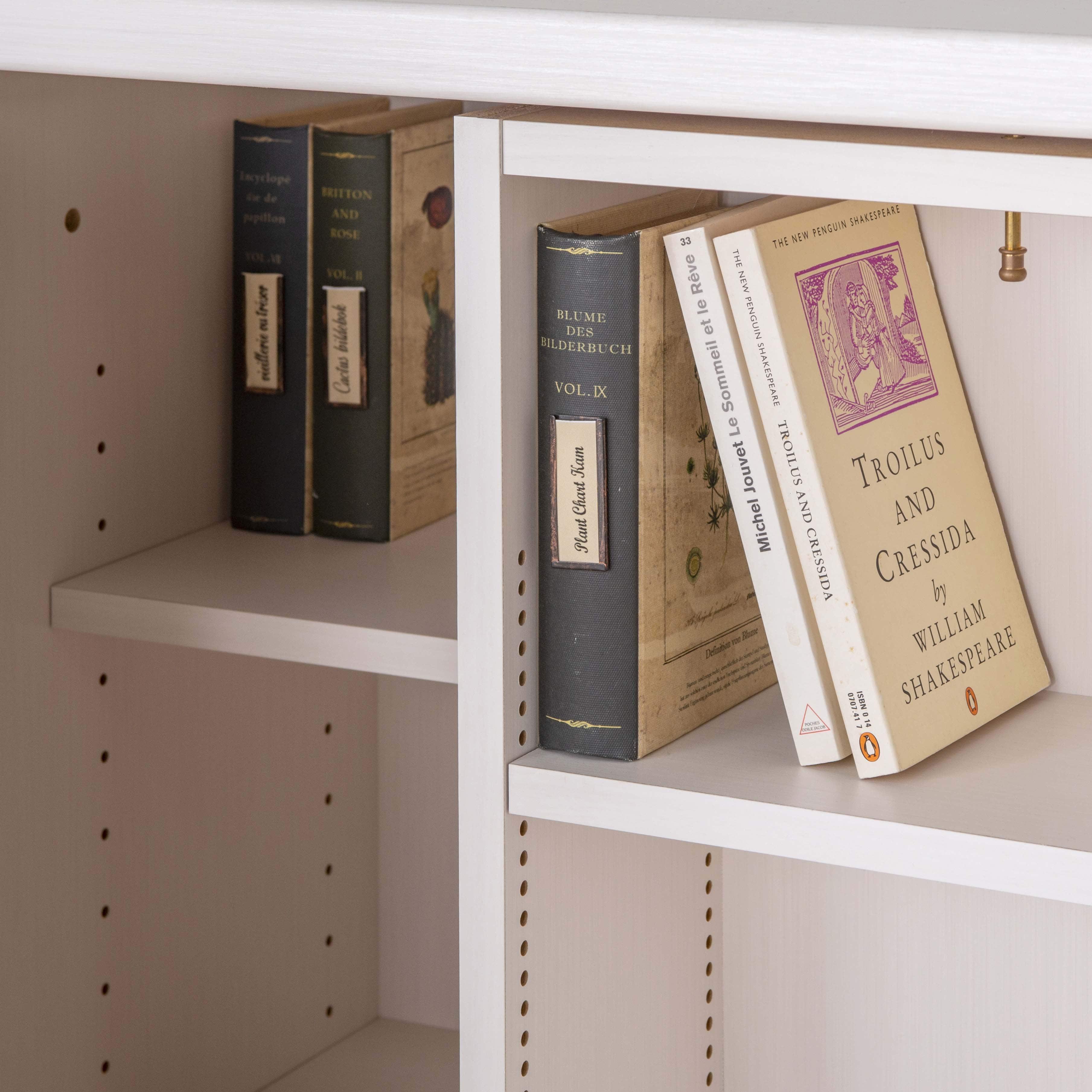 スライド書棚 プラス80H WH木目:A25サイズもたっぷり収納