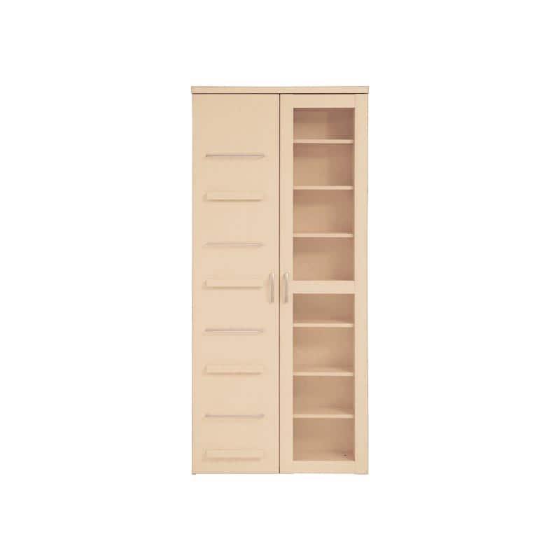 スライド書棚 プラス 80H NA(ナチュラル):魅せる・しまう・大容量を兼ね備えた実用的なスライド書棚