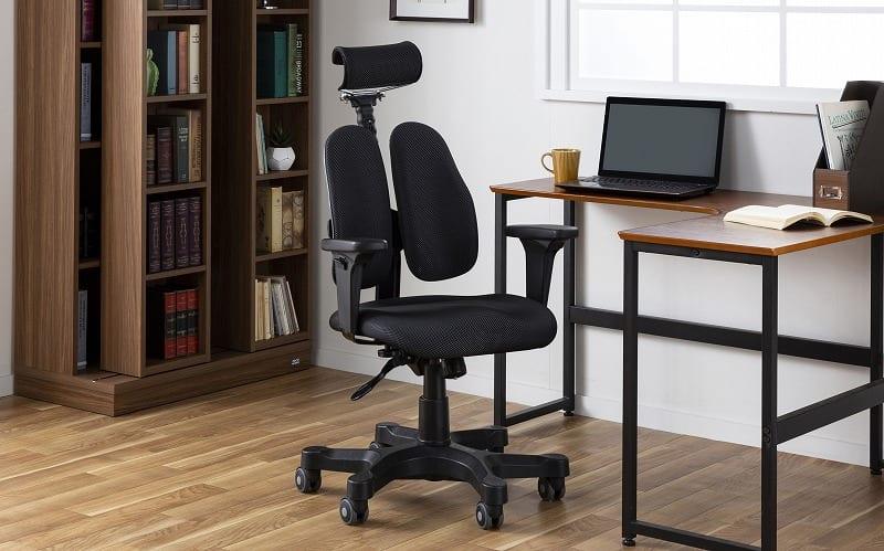 デスクチェア デュオレスト DR−7501SP(ニットグレー):腰への負担軽減をサポートするデスクチェア