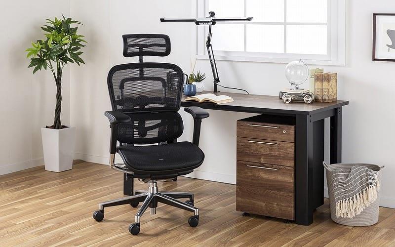 エルゴヒューマンベーシック ハイ BH−HAM KM15メッシュブルー:快適に座れるチェアで作業効率アップ!