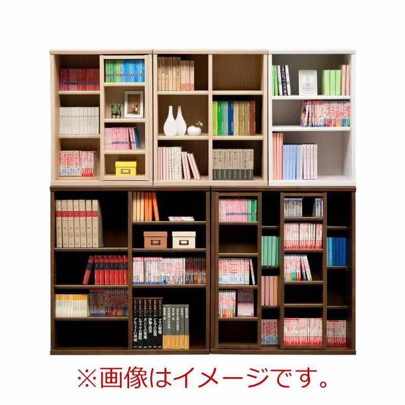 オープン書棚 SOK72 幅60×高さ110 ホワイト