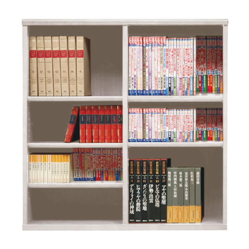オープン書棚 SOK72 幅110×高さ100 ホワイト