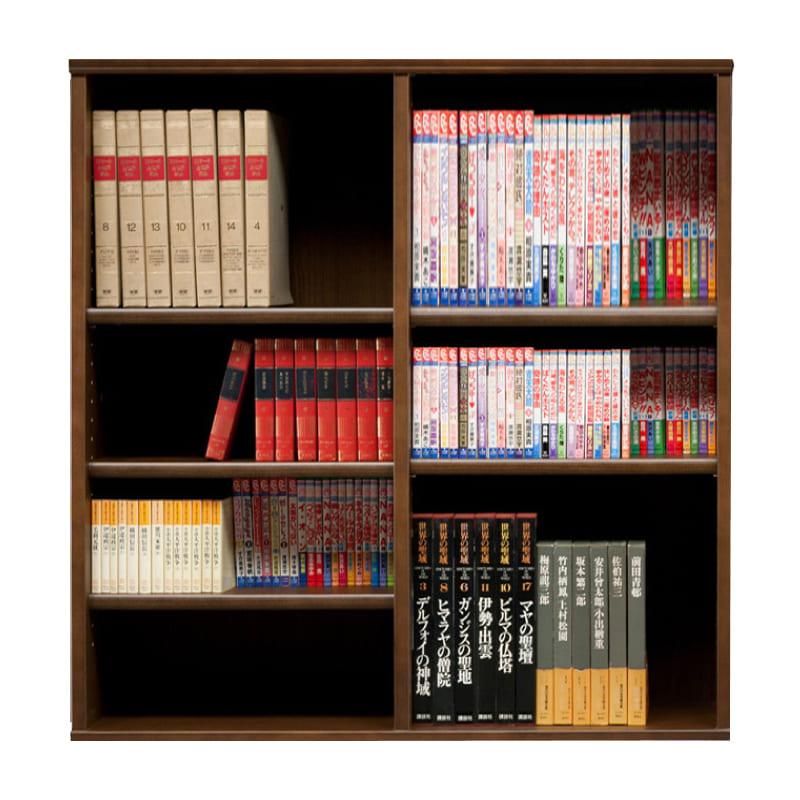 オープン書棚 SOK72 幅110×高さ100 ブラウン