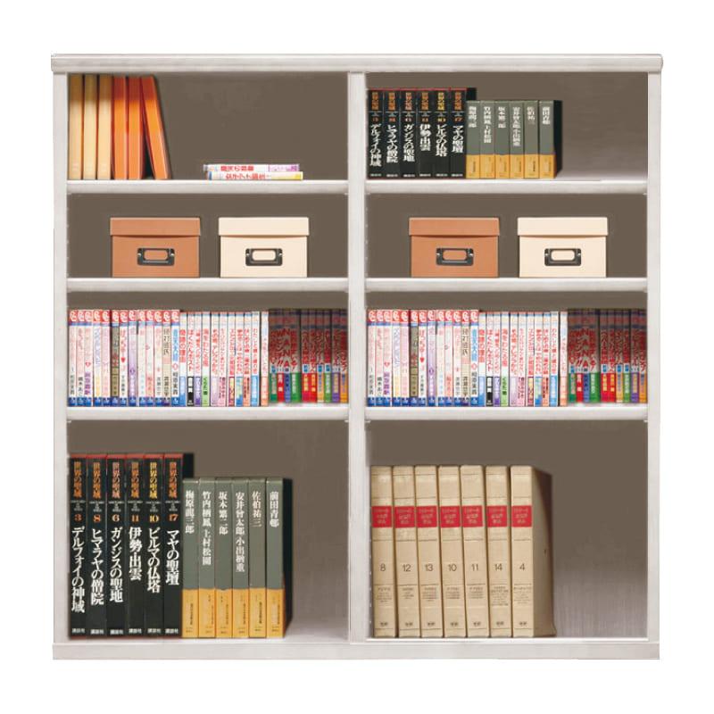 オープン書棚 SOK72 幅110×高さ110 ホワイト
