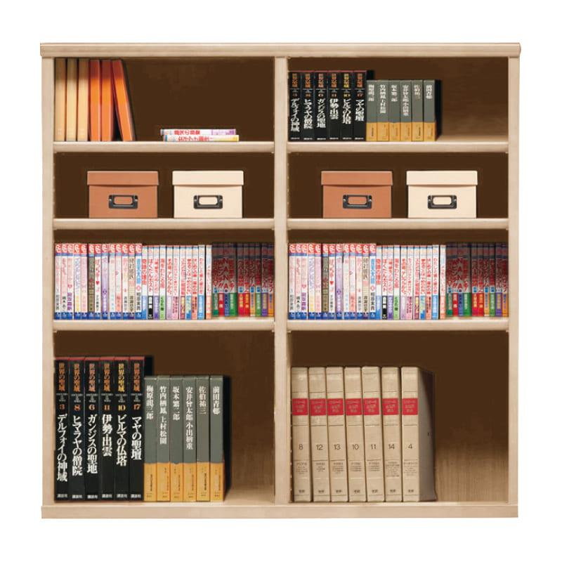 オープン書棚 SOK72 幅110×高さ110 ナチュナル