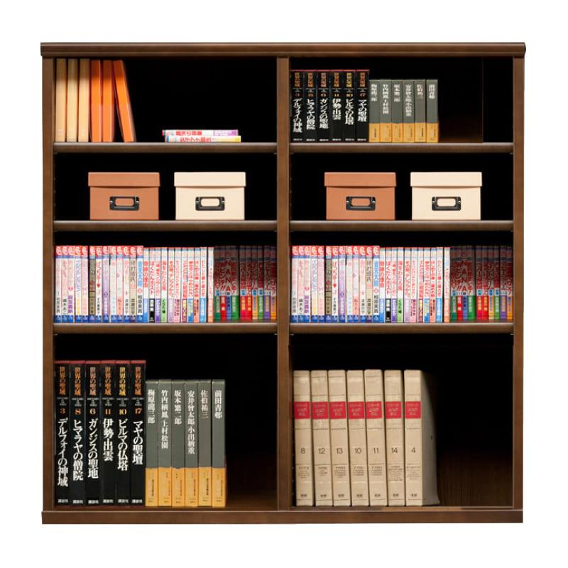 オープン書棚 SOK72 幅110×高さ110 ブラウン