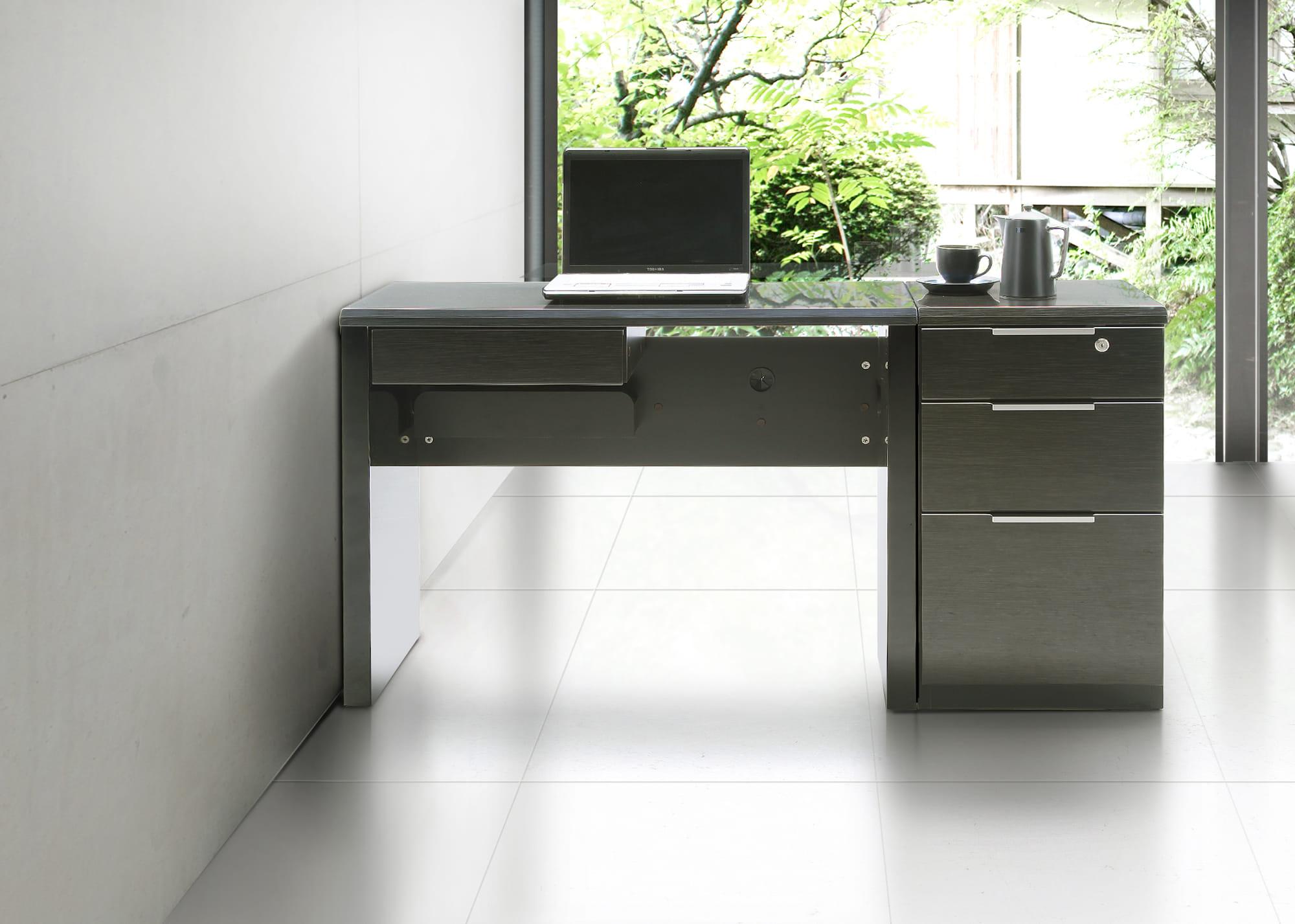 デスク グレイン100×45(BK):大人かっこいいシンプルモダンなデザイン