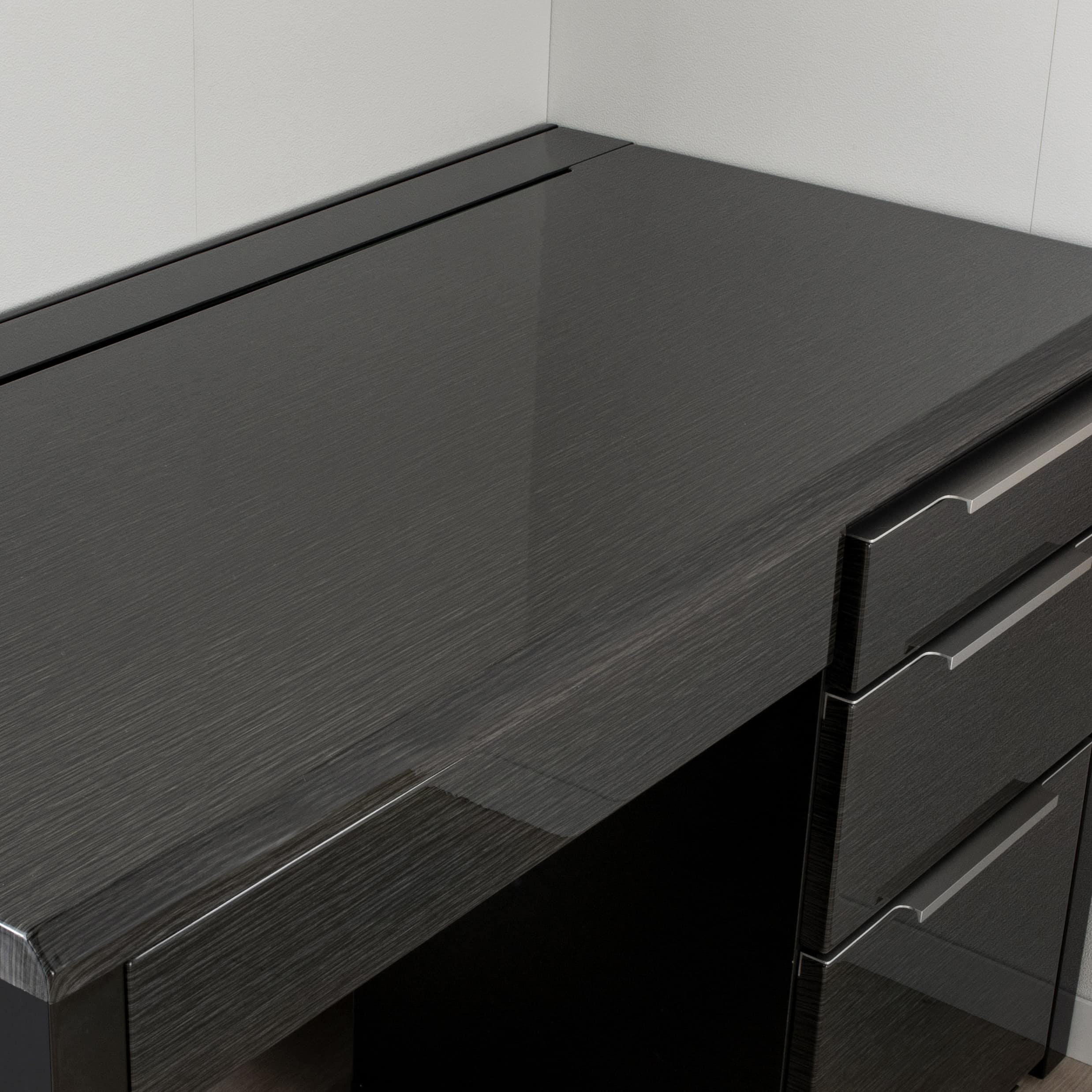 デスク グレイン120×45(WH):デスクを守るUV塗装