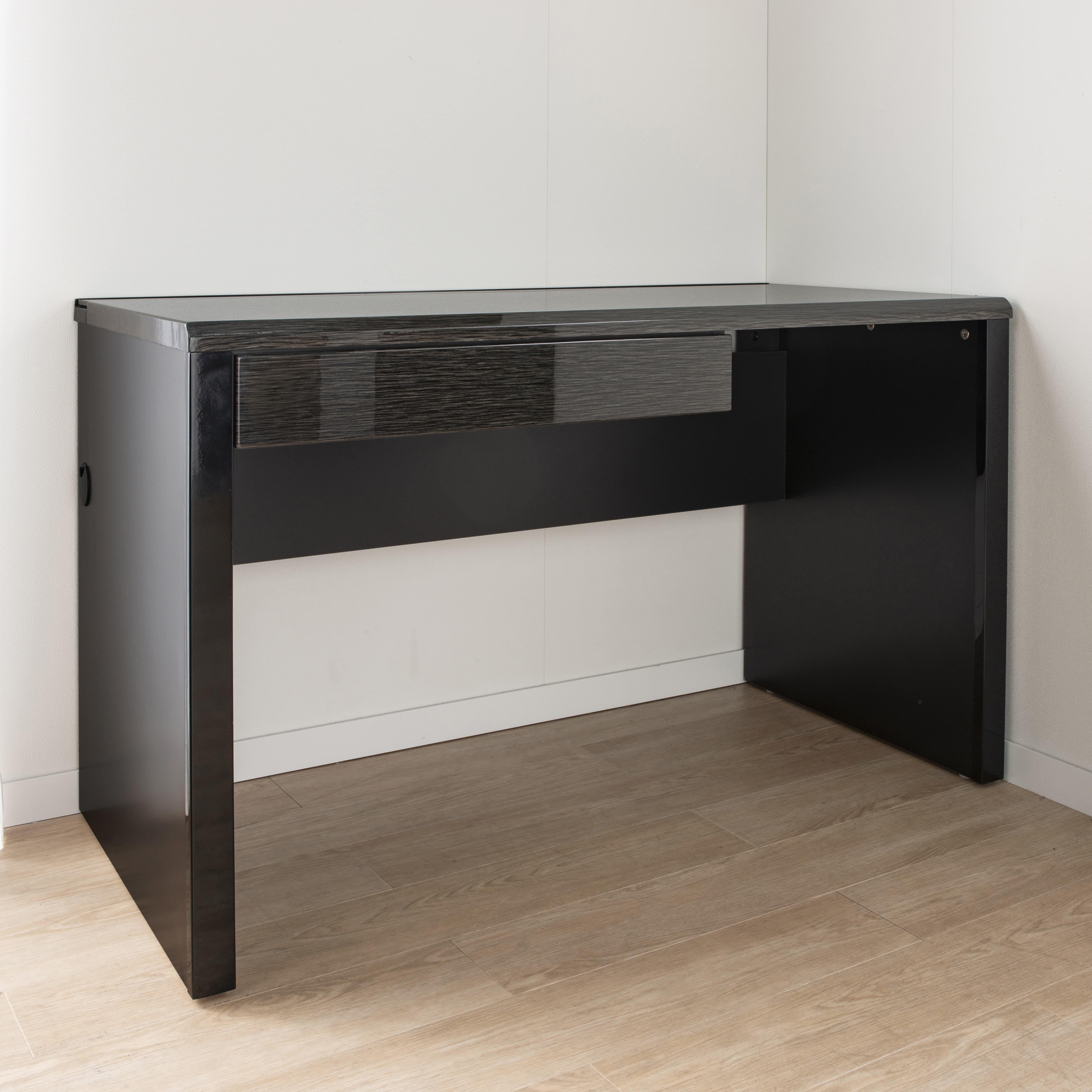 デスク グレイン120×45(WH):ストレスフリーな広々空間