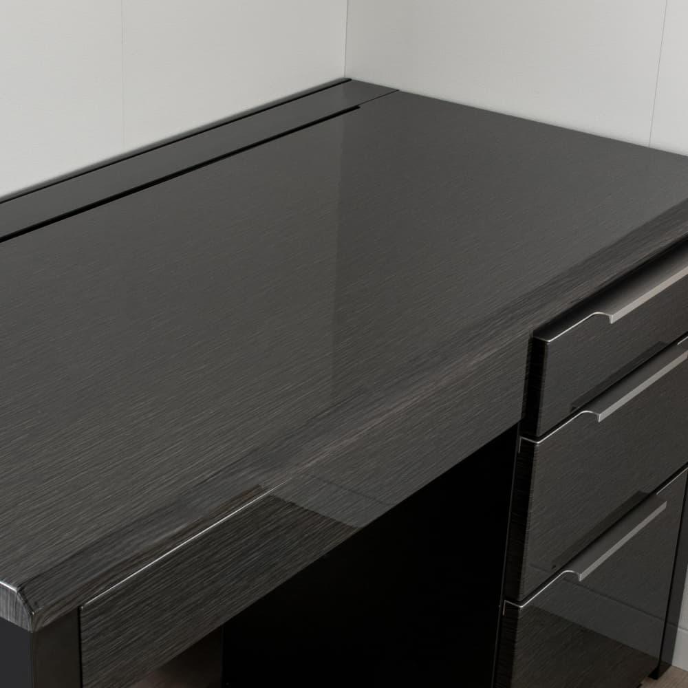 デスク グレイン100×60(BK):UV塗装
