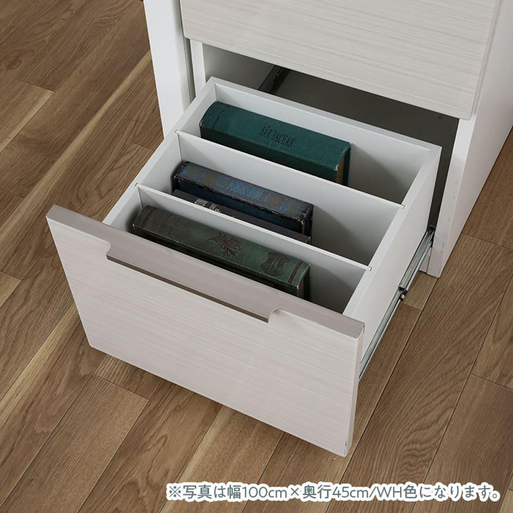 デスク グレイン140×60(WH):ワゴンの仕様�A