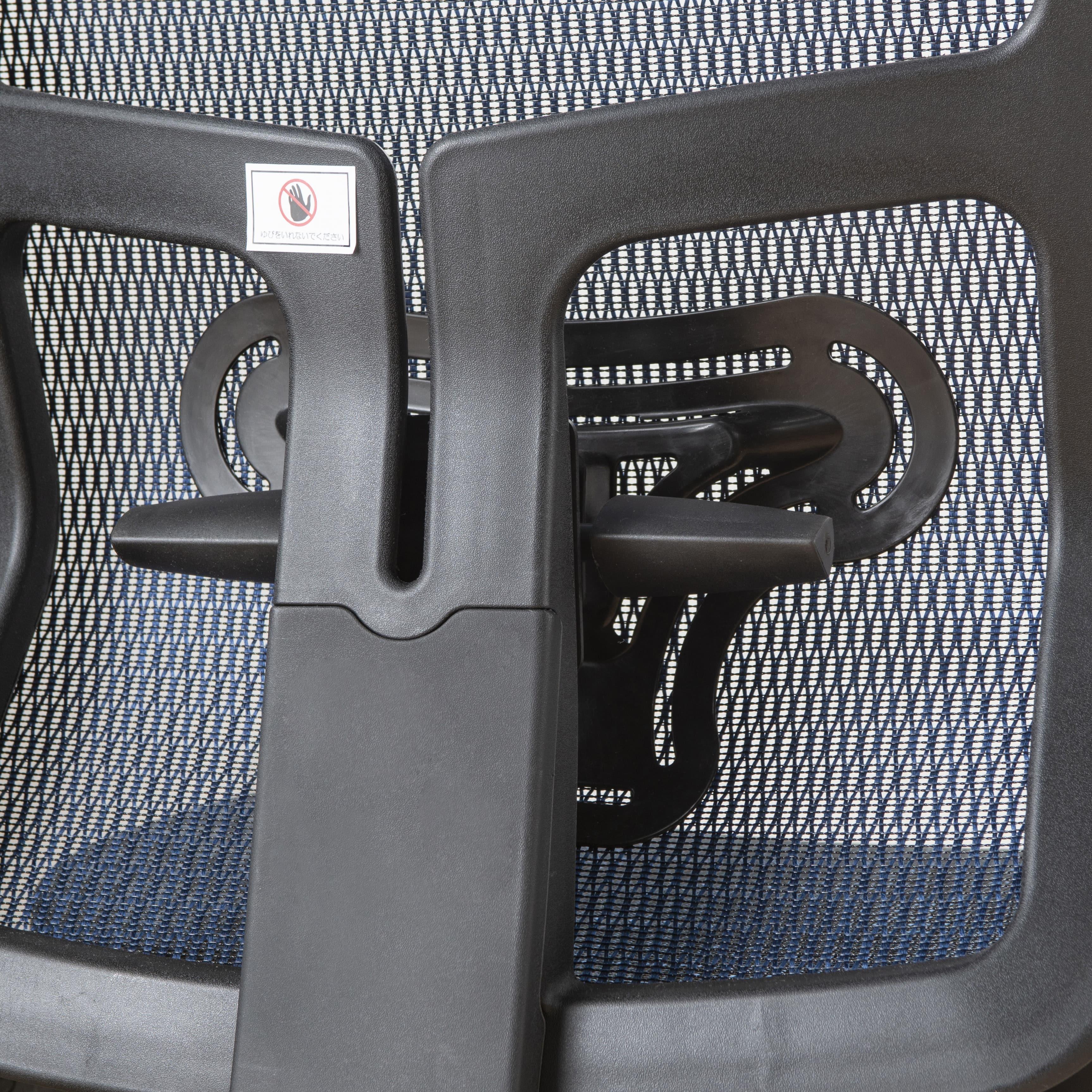 デスクチェア JG-11384BL(ブルー):しっかり支えるランバーサポート
