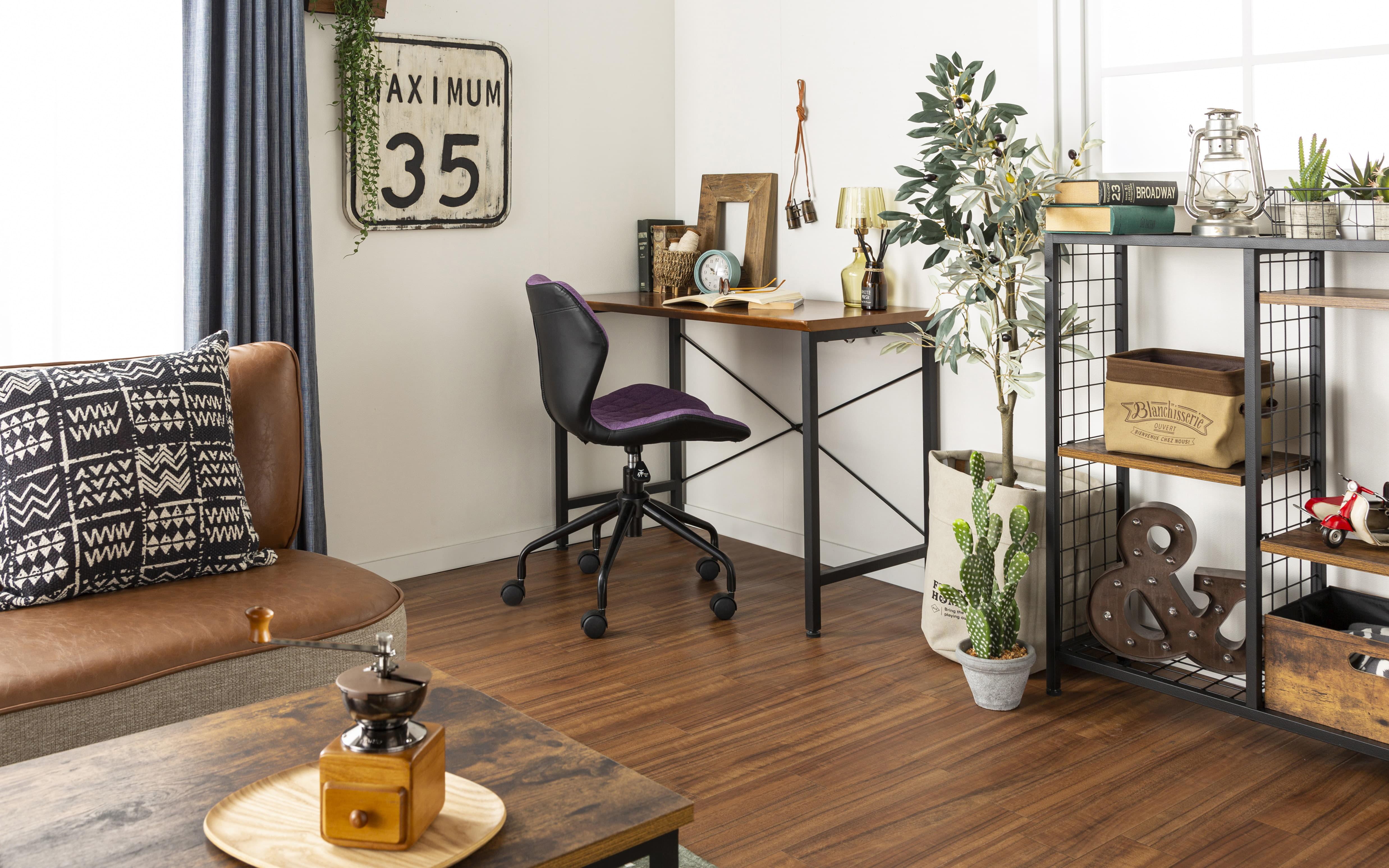 デスク ダンテ 118cm WAL:友人を呼びたくなるヴィンテージ風のおしゃれ家具