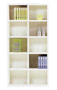 書棚 ニューラチスFBS−90T ホワイトウッド