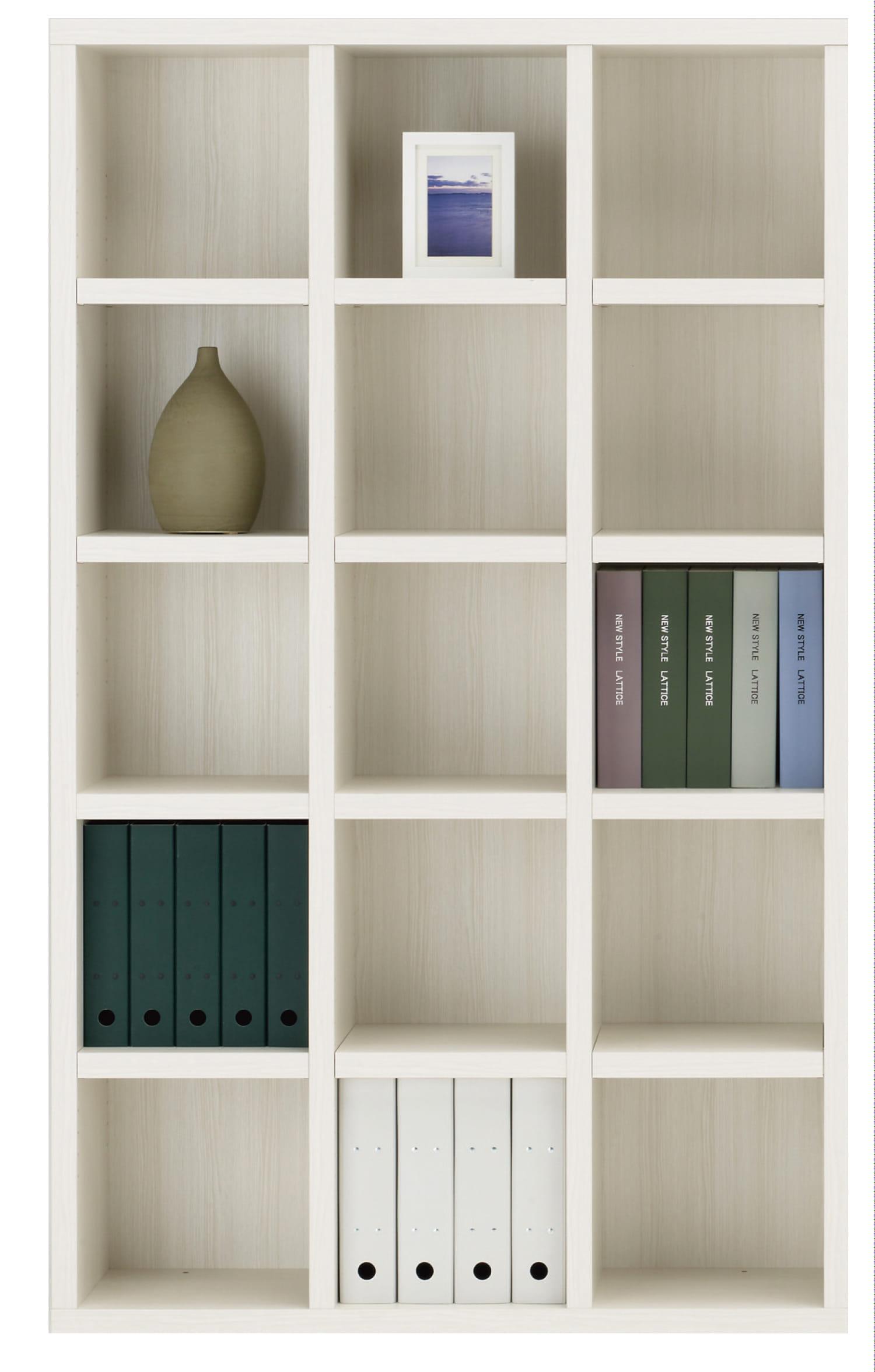 書棚 ニューラチスFBS−110T ホワイトウッド:書棚 ニューラチス ※小物類はイメージです。