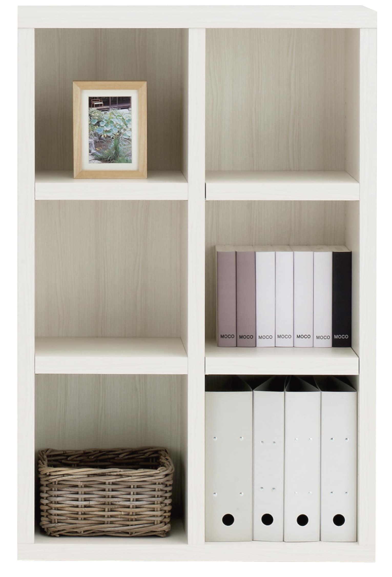 書棚 ニューラチスFHS−75L ホワイトウッド:書棚 ニューラチス ※小物類はイメージです。