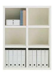 書棚 ニューラチスFHS−90L ホワイトウッド