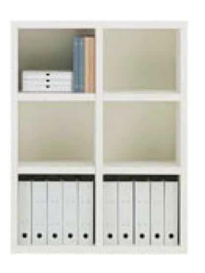書棚 ニューラチスFHS−90L ホワイトウッド:書棚 ニューラチス ※小物類はイメージです